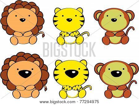 cute baby animals cartoon set9