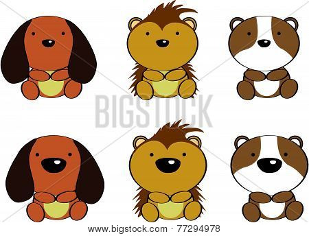 cute baby animals cartoon set8