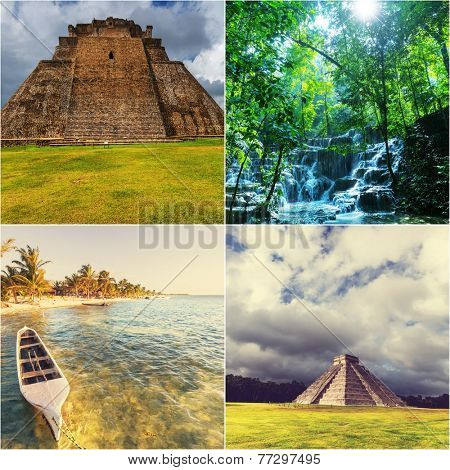 Mexican landscapes collage