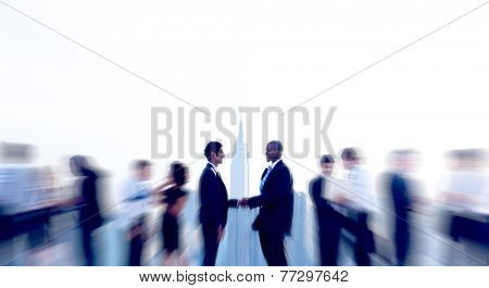 Business People Handshake Deal Agreement Collaboration Meeting Concept