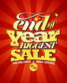 stock photo of year end sale  - End of year biggest sale design - JPG