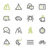 pic of travel trailer  - Travel web icons set - JPG