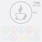 stock photo of hot coffee  - Coffee cup sign icon - JPG