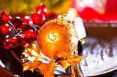 pic of christmas dinner  - Christmas table setting - JPG