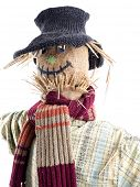 pic of scarecrow  - Scarecrow against the white background - JPG