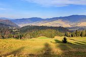 picture of pieniny  - autumn mountain landscape - JPG