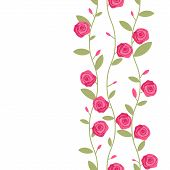 picture of climber plant  - Seamless pattern with decorative climbering pink flowers - JPG