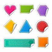 picture of circle shaped  - Vector realistic colorful sticker set different geometric shapes such as rectangle - JPG