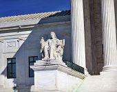 picture of supreme court  - US Supreme Court Statue Capitol Hill Washington DC - JPG