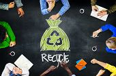 picture of reuse  - Reuse Recycle Ecology Environment Go Green Meeting Concept - JPG