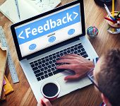 stock photo of suggestive  - Feedback Satisfaction Information Business Office Working Concept - JPG