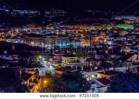 Night Lights Of The Village Of Los Pacos