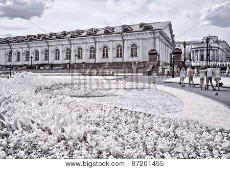 Moscow. Alexander Garden. Infrared Photo