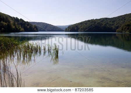 A Landscape In The Plitvice Lakes National Park In Croatia