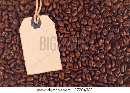 Blank Discount Vintage Price Tag Label And Coffee Beans