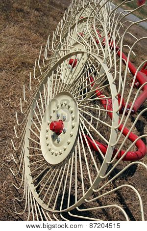 New Hay Raker Farm Equipment. Agricultural Machinery