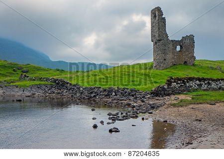 The ruin of Ardveck castle