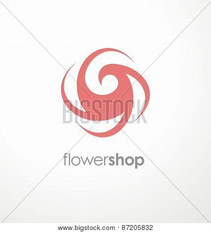 Minimalistic rose symbol