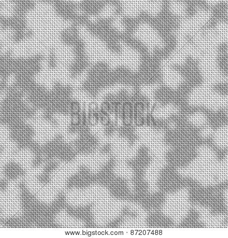 Knitted Seamless Pattern In Urban Camo