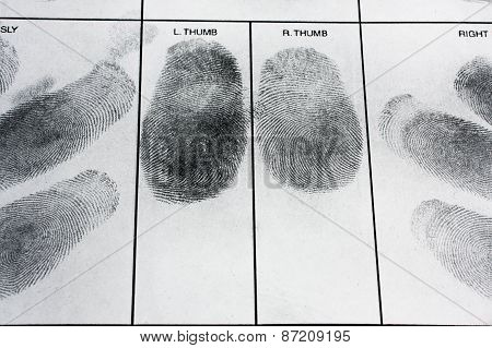 Real human fingerprint.