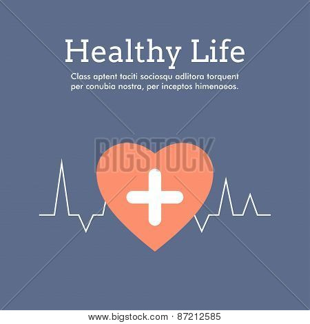 World Health Day Celebrating Card Or Poster Design. Healthy Life