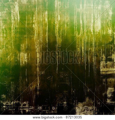 Highly detailed grunge texture or background. With different color patterns: yellow (beige); brown; black; green