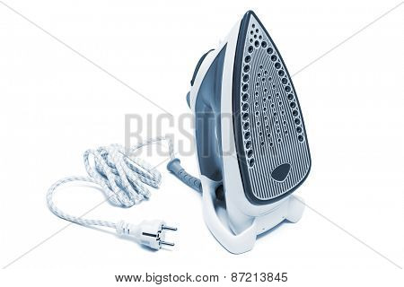 new electric iron on a white background
