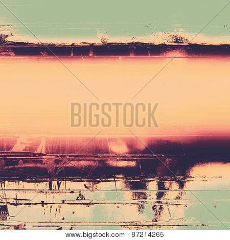 Grunge background with vintage and retro design elements. With different color patterns: yellow (beige); gray; pink; green
