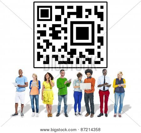 Quick Response Code Data Digital Shopping Concept
