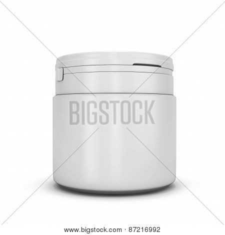 Template White Plastic Can For Products