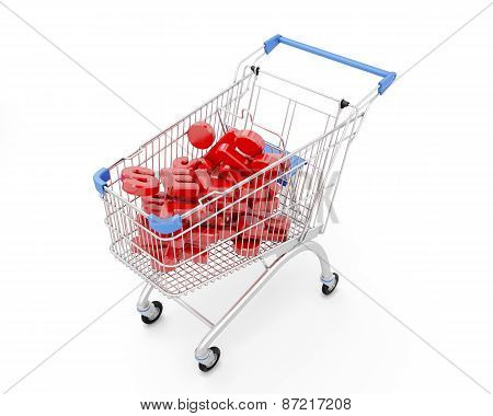 Trolley Discount On A White