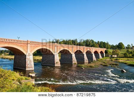 Brick Bridge Across The Venta River