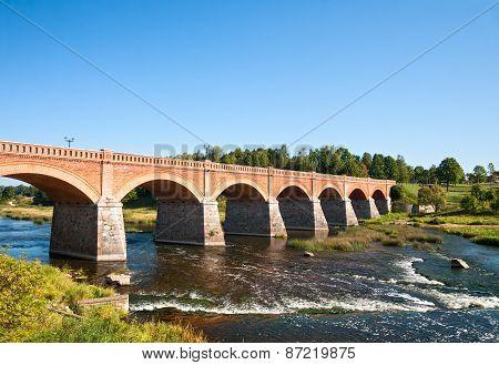 Brick Bridge Across The Venta River