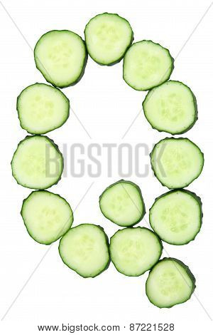 Vegetable Alphabet Of Chopped Cucumber  - Letter Q