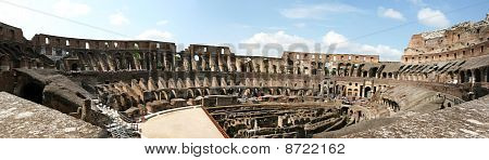 Inside View Of Roman Coloseum 4H Pano