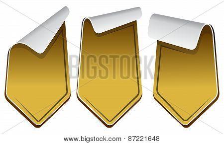 Gold stickers set