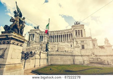 The Altare della Patria (Altar of the Fatherland) also known as