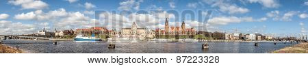 Panoramic View Of Szczecin Waterfront, Poland.