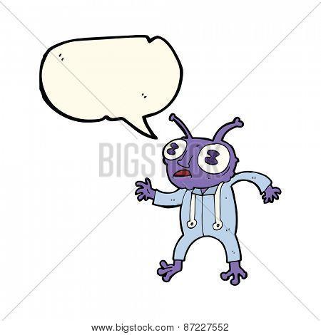 cartoon alien