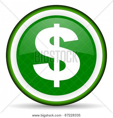 dollar green icon us dollar sign