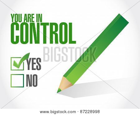 You Are In Control Approval Concept