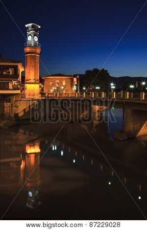 Clock tower in Amasya City Center, Turkey