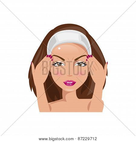 Disturbing Woman. Vector Illustration
