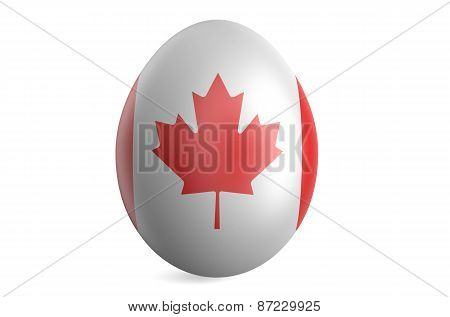 Easter Egg With The Flag Of The Canada