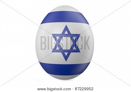 Easter Egg With The Flag Of The Israel