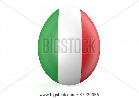 Easter Egg With The Flag Of The Italy