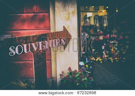 Souvenir Shops In The Old Town, Vintage
