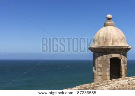 Corner Lookout Tower At Castillo San Felipe Del Morro.