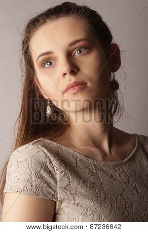 portrait of the young beautiful woman
