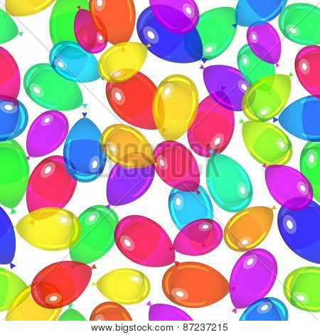 Balloons party Seamless Pattern. Vector